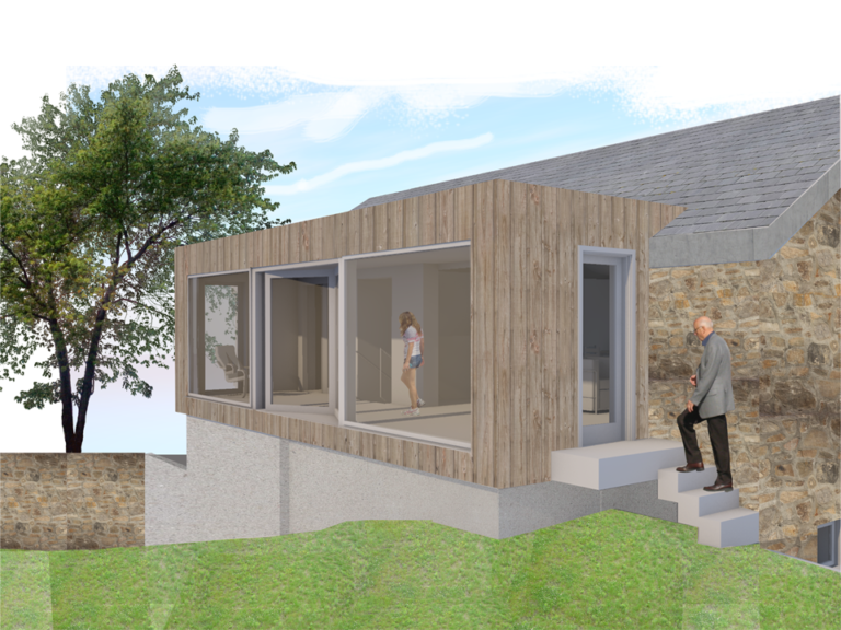 contemporary extension cornish cottage st ives